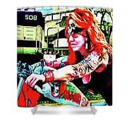 The Red Headed Slut Shower Curtain
