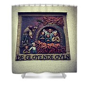 The Red Hot Oven Shower Curtain