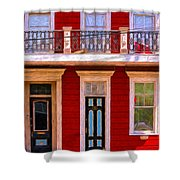 The Red House-nola-faubourg Marigny Shower Curtain
