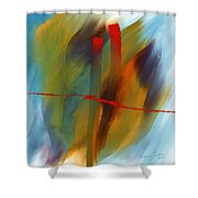 The Red Line Shower Curtain