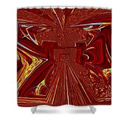The Red Palace In Abstract Shower Curtain