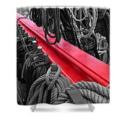 The Red Rail Shower Curtain
