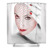 The Red Realm - Self Portrait Shower Curtain