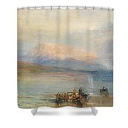 The Red Rigi  Shower Curtain