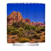 The Red Rock Canyon At Bonnie Springs Ranch Shower Curtain