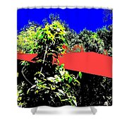 The Red Roof Shower Curtain
