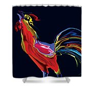 The Red Rooster Shower Curtain