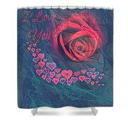 The Red Rose Of Love Shower Curtain