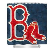 The Red Sox Shower Curtain