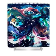 The Red Stars Of Paradise Shower Curtain