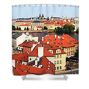 The Red Tile Roofs Of Prague Shower Curtain