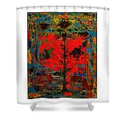 The Red Tree -or- Paint Shower Curtain