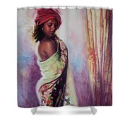 The Red Turban Shower Curtain