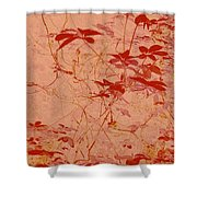 The Red Vine Shower Curtain