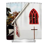 The Red Window Shower Curtain