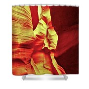 The Reddish Yellow Path Shower Curtain