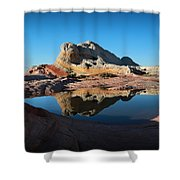 The Reflecting Pool Shower Curtain
