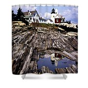 The Reflection At Pemaquid Shower Curtain