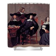 The Regents Of The Old Men And Women Hospital In Amsterdam Shower Curtain