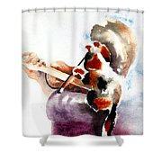 The Rehearsal Shower Curtain by Linda Lindall