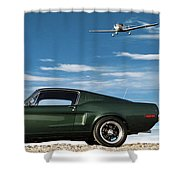 The Rendezvous - 1968 Mustang Fastback Shower Curtain