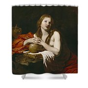 The Repentant Magdalene Shower Curtain by Nicolas Regnier