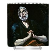 The Repentant Peter El Greco Shower Curtain