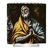 The Repentant Saint Peter Shower Curtain