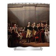 The Resignation Of General George Washington Shower Curtain