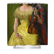 The Rest His Daughter Edith Shower Curtain