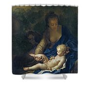 The Rest On The Flight Into Egypt Shower Curtain