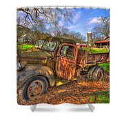 The Resting Place Boswell Farm 1947 Dodge Dump Truck Shower Curtain