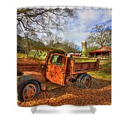 The Resting Place 2 Farm Life 1947 Dodge Dump Truck Art Shower Curtain