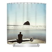 The Resting Surfer Shower Curtain