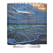 The Restless Sea Shower Curtain
