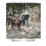 The Return From Egypt Shower Curtain by Tissot