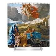 The Return Of The Holy Family From Egypt Shower Curtain