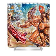 The Return Of The Original Consciousness And The Temptation Of The Fallen Shower Curtain