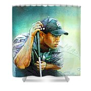 The Return Of The Tiger 01 - Stalking 01 Shower Curtain