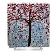 The Rhythm Tree Shower Curtain