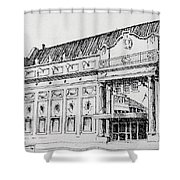 The Rialto Theater Deer Lodge Montana Shower Curtain