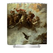 The Ride Of The Valkyries  Shower Curtain by William T Maud