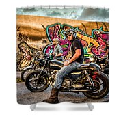 The Riders Shower Curtain