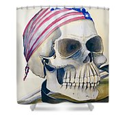 The Rider's Skull Shower Curtain