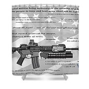 The Right To Bear Arms Shower Curtain by Daniel Hagerman