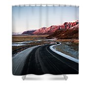 The Ring Road Shower Curtain
