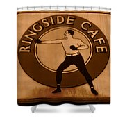 The Ringside Cafe Shower Curtain
