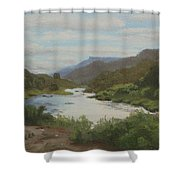 The Rio Grande Between Taos And Santa Fe Shower Curtain