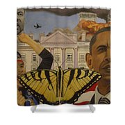 The Rise Of A Falling Nation  Shower Curtain
