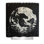 The Rise Of The Full Moon Shower Curtain